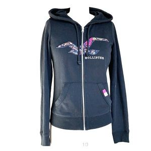 Tops - New without tags.Black Hollister full zip hoodie